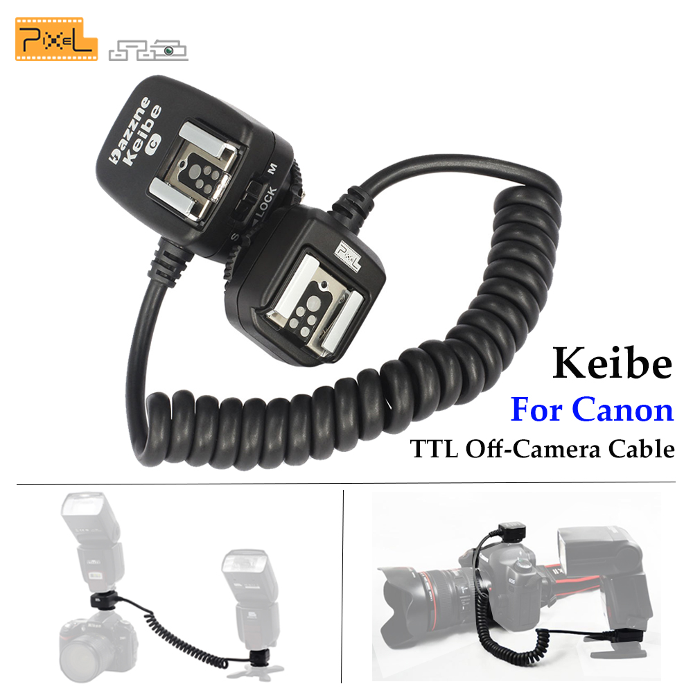 Pixel Keibe 1m/3.6m Cord TTL Off Camera Flash Hot Shoe Sync Flashgun Cable For Canon Camera TR-586EX Speedlite Extension Cord