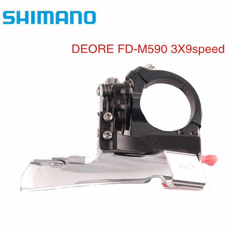 Shimano deore FD-M590 9s 27s frente desviador 34.9mm multi-braçadeira mountain bike frente desviador
