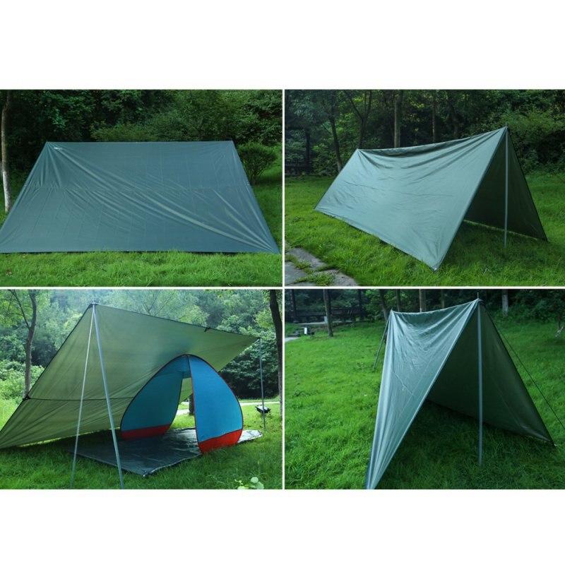 Bâche ultralégère Camping en plein air survie abri soleil ombre auvent revêtement argenté Pergola tente de plage étanche