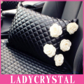 Ladycrystal Seat Cover Space Cotton Obsidian Pillow Car Seat Cushion Tournure Back Cushion Waist Cushion Lumbar Leather Pillow
