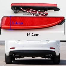 Светодиодный задний светодио дный бампер отражатель тормозной Стоп-сигнал для Mazda 6 Atenza для Mazda 2 DY для Mazda 3 Axela (CA240) автомобиль-Стайлинг левый и правый