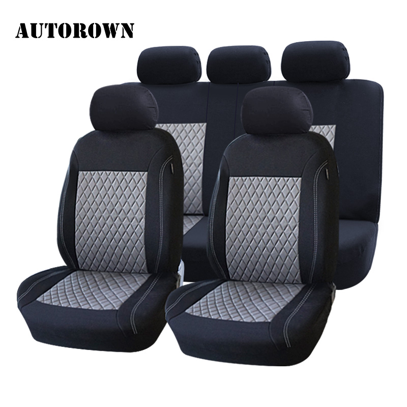 AUTOROWN Car Seat Cover Universal For Toyota BMW KIA Honda Polyester Automobiles Seat Covers Interior Accessories Seat Protector