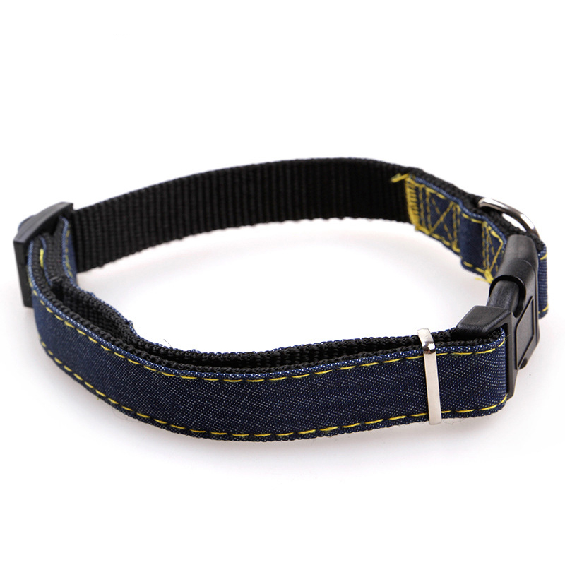 Pet Dog Cat Collar Clip Buckle Jean Collar Outdoor Sports Safety Lead Leash For Small Medium Dogs Chihuahua Cats S M L XL Strong (5)