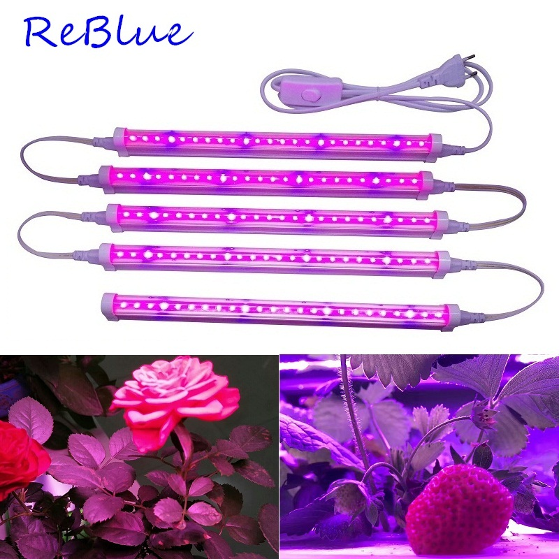 ReBlue Led Grow Light Phyto Lamp Full Spectrum LED Grow Light 12W 24W Grow Led Plant Light For Hydroponics Seedling For Plants