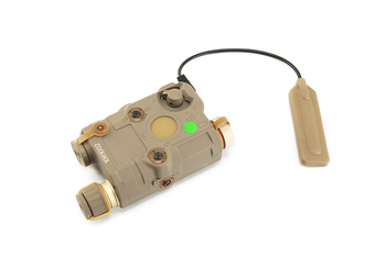 AN-PEQ-15 upgraded version of LED white + green laser infrared lens for tactical military hunting DE TB0069