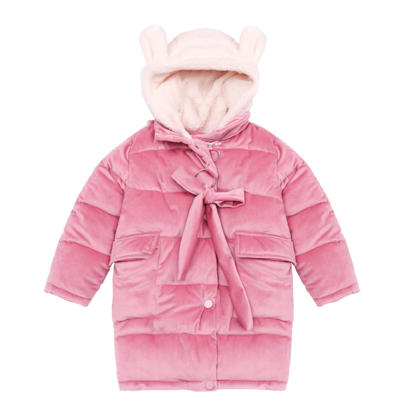 3-12 yrs baby girls velvet long coat thick warm cute big bow stitching fleece kids casual hoodie outfit 2018 fashion autumn tops paul frank baby boys supper julius fleece hoodie