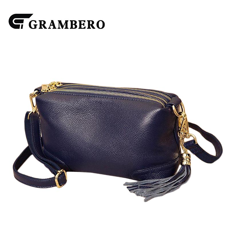 Casual Soft Genuine Leather Top Leather Shoulder Bag Solid Color Zipper Small Crossbody Messenger Bag Women Fashion Bags Gifts casual solid color top leather shoulder bag heart shaped decoration cover fashion women clutch wallet crossbody messenger bag