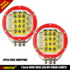 2PCS FREE SHIPPING IP67 Waterproof 7 Inch Combo Beam Offroad Car 90W Led Work Light Round