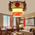 Подвесные светильники для ресторана  лобби  антикварные лампы из овечьей кожи  деревянные лампы для гостиной  отеля  китайские лампы  тверда...