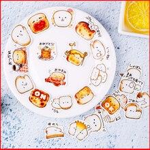 24 pcscartoon bread personalized scrapbook Stickers scrapbooking material sticker happy planner decoration craft