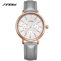 SINOBIผู้หญิงหนังแท้Q Aurtzหรูหราชุดนาฬิกาสุภาพสตรีควอตซ์Rose G Oldนาฬิกาข้อมือM Ontre Relógio Femininoแบรนด์ชั้นนำ