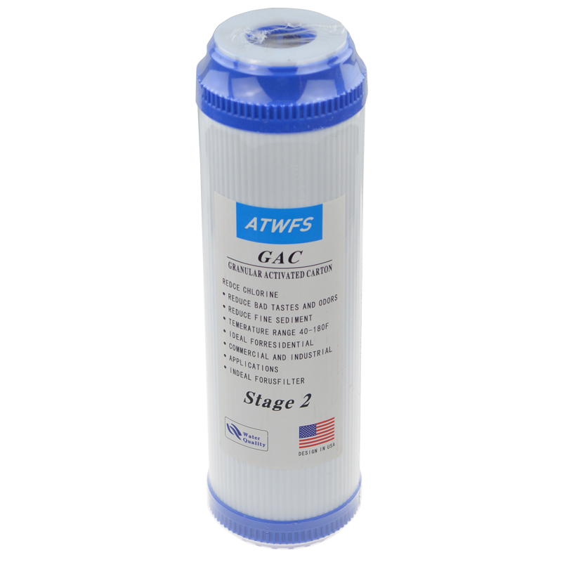 ATWFS PP Cotton Filter+10'' Water Purifier Filter UDF Granular Activated Carbon Filter+CTO Compressed Carbon Reverse Osmosis