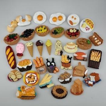 Imanes 3D estéreo de resina creativos para alimentos de cocina, nevera, decoración del hogar, pegatinas para fotos de oficina, fuerte imán de nevera souvenir