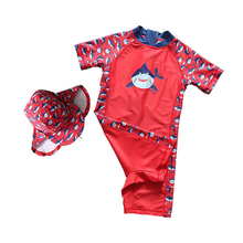 Dollplus Child Boys Swimwear Kids 2pcs Children Beachwear Baby Boy Swimsuit Sport Swim Beach Surfing Clothes