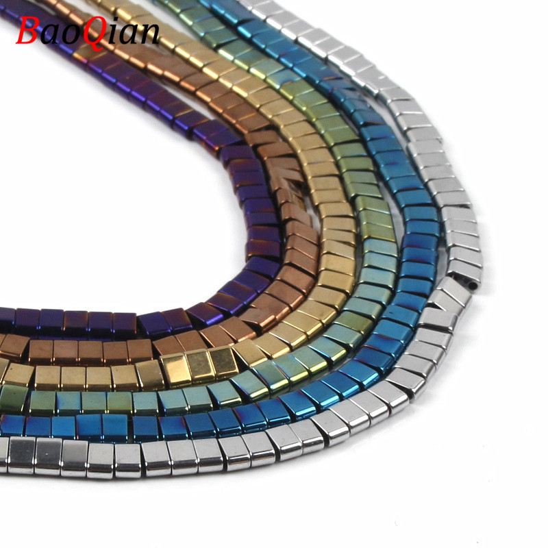 Natural Double-hole Hematite Beads DIY Multi-color Beaded Creative Necklace Necklace Jewelry Accessories(China)