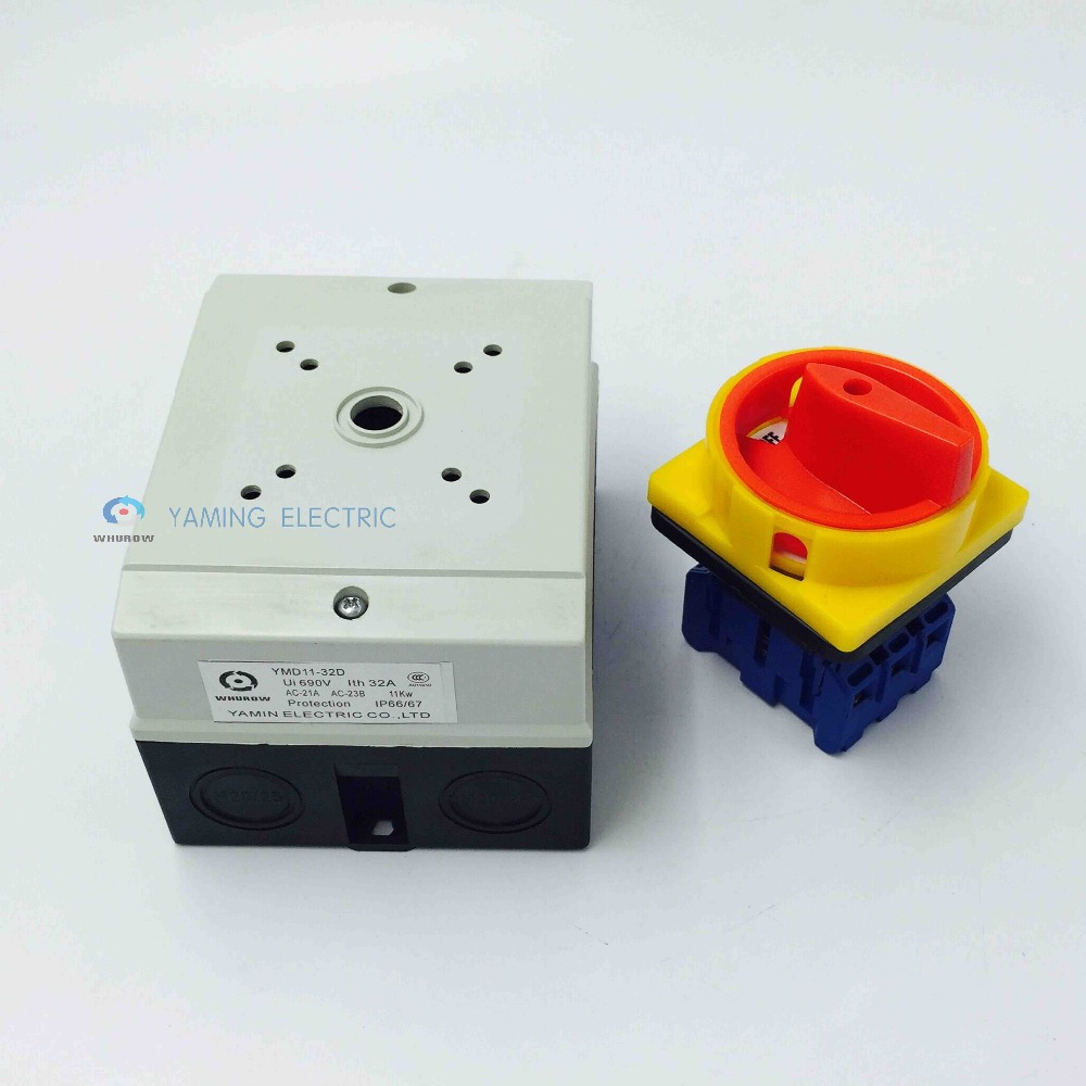 Locking Isolator Switch With Waterproof Enclosure 25a 3phase 2 Circuit Breakers In The Off Position Without Out An Entire On Padlock Rotary Ymd11 25d Switches From Lights Lighting