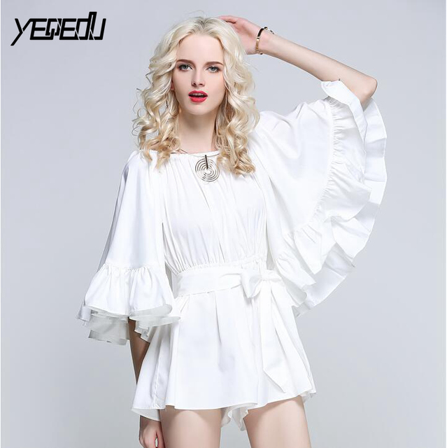 #2755 Summer Combinaison Short Femme White/Black/Pink/Blue Elegant Sexy Office Clothing Bodies Ladies Playsuits Women