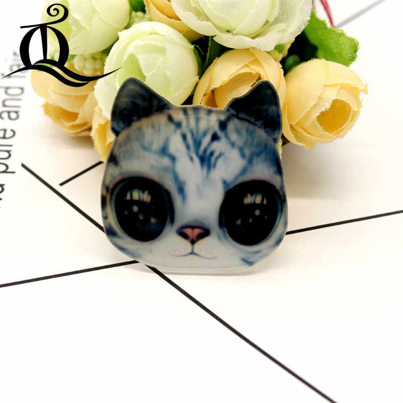 Gratis Pengiriman 1 Pcs Lukisan Kartun Kucing Lencana untuk Pakaian Akrilik Lencana Kawaii Ikon Di Ransel Pin Bros Lencana 16