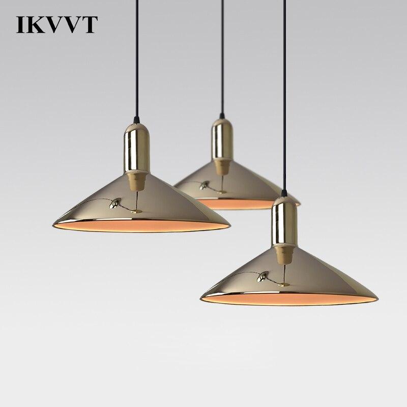IKVVT Pendant Lights Modern Art Design Industrial Decor Golden Silver Pendant Lamp Restaurant Bar Study Bedroom Hanging Lamp серьги art silver art silver ar004dwzmh30