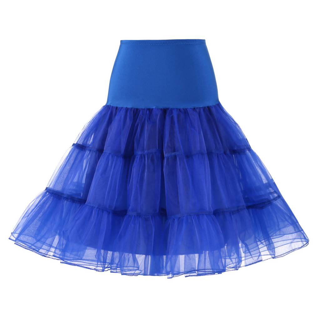 Tüll Röcke Hohe Taille Faltenröcke weibliche Ballettröckchen Rock Retro Vintage Petticoat Krinoline Unterrock Elegant Schule Rock