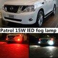 Para Nissan Patrol 2010-2015 accesorios H8 H11 15 W de Alta Potencia brillante 5730 15 SMD LED de Coches Niebla Lámpara de Luz de Conducción bombilla