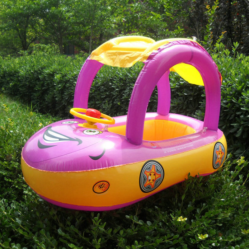 2019 New Baby Swimming Ring Shading Cartoon Car Seat  Pool Games Children Pools Water Fun Toys Pool Rafts Inflatable Ride-ons