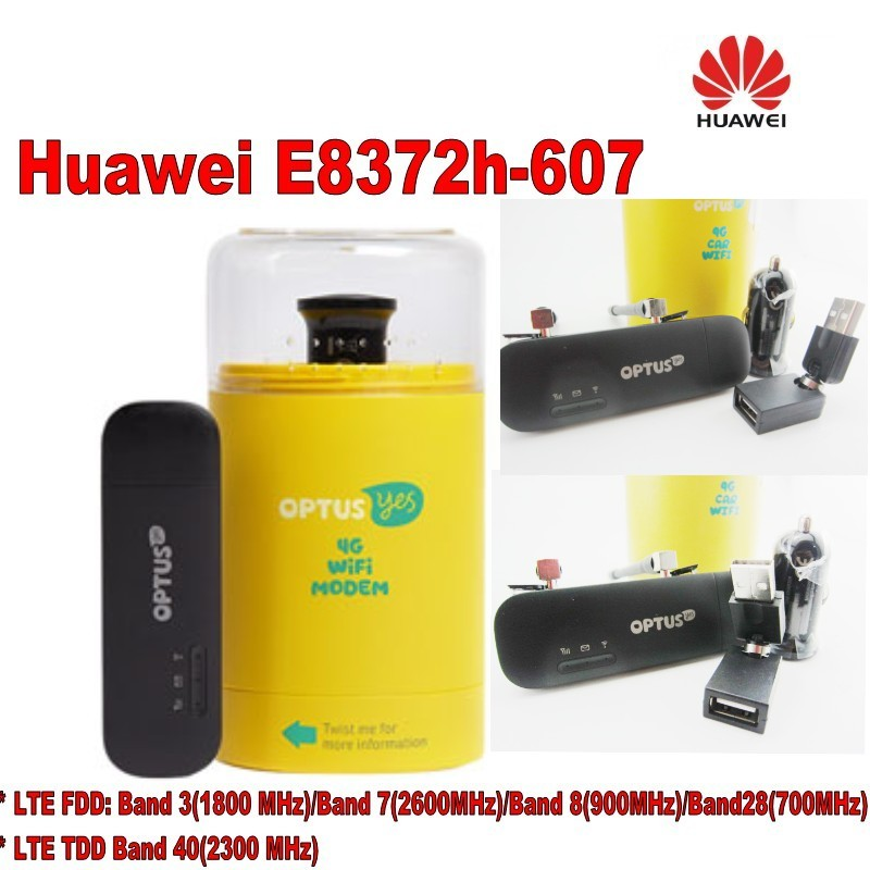 Original Unlock HUAWEI E8372H-607 150Mbps 4G LTE 12V CAR WiFi Router plus 2pcs antenna and usb adapter,car charger new arrival original unlock huawei e8372h 150mbps 4g lte 12v car wifi router support b3 b7 b8 b28 b40