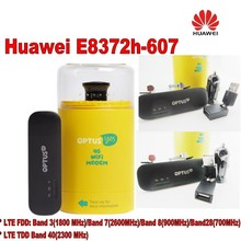 Original Unlock HUAWEI E8372H-607 150Mbps 4G LTE 12V CAR WiFi Router  plus 2pcs antenna and usb adapter,car charger