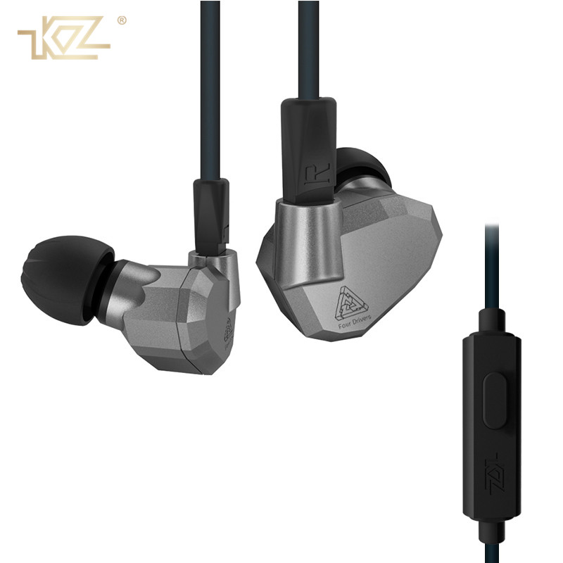 KZ Original ZS5 In Ear Earphone Headphones 3.5mm HIFI Running Sport Bass Fone De Ouvido with Micphone Earbud for Phone Xiaomi original xiaomi xiomi mi hybrid earphone 1more design in ear multi unit piston headset hifi for smart mobile phone fon de ouvido