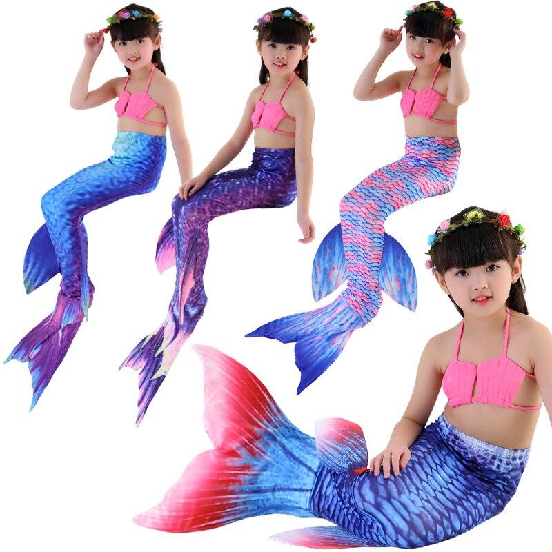 Free shippingHOT!Children Mermaid Tail with Monofin Kids Girls Costumes Swimming Mermaid Tail Mermaid Swimsuit Flipper for girls