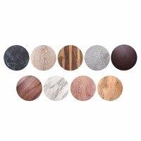 YANGGE Hot Selling 2pcs Set Wood Plastic Plates Brand 10 12 Inch Melamine Restaurant Home Hotel