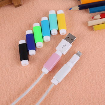 500pcs/lot USB Data Cable Line Protector Protective Sleeve For iphone samsung huawei USB Cord
