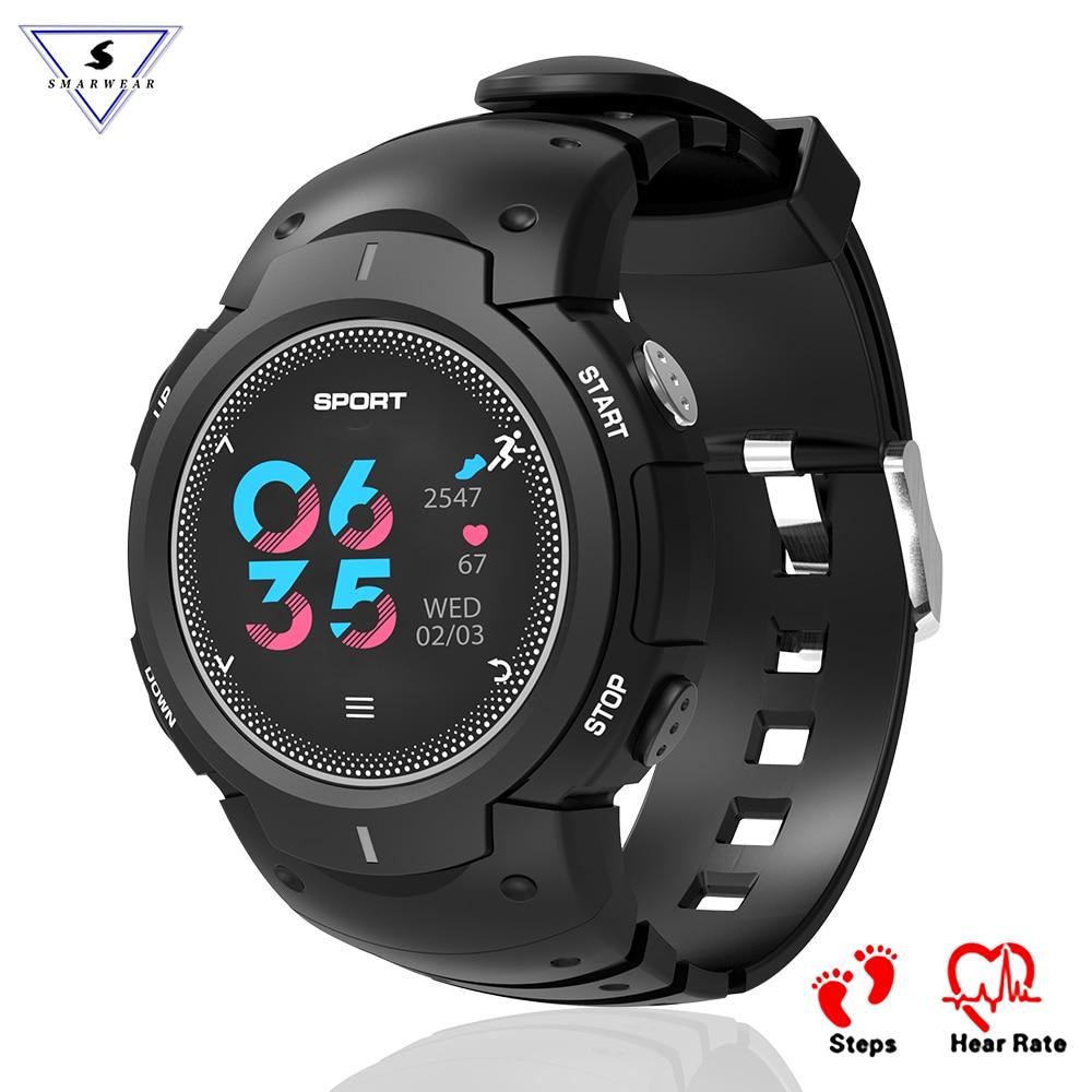 Professionnel Sport smart watch IP68 Étanche Multisports de Fitness tracker Hommes outerdoor Smartwatch bande Couleur LCD bande À Puce