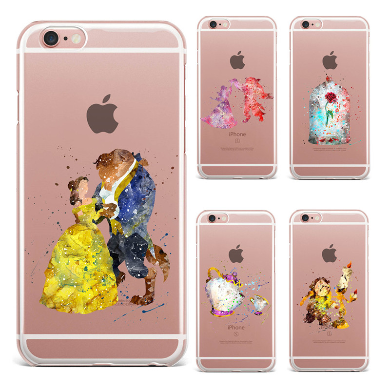 b83db2b5b05 For Fundas iPhone 6 Case SE 5S 6 6S 7 Plus Beauty And The Beast Soft ...