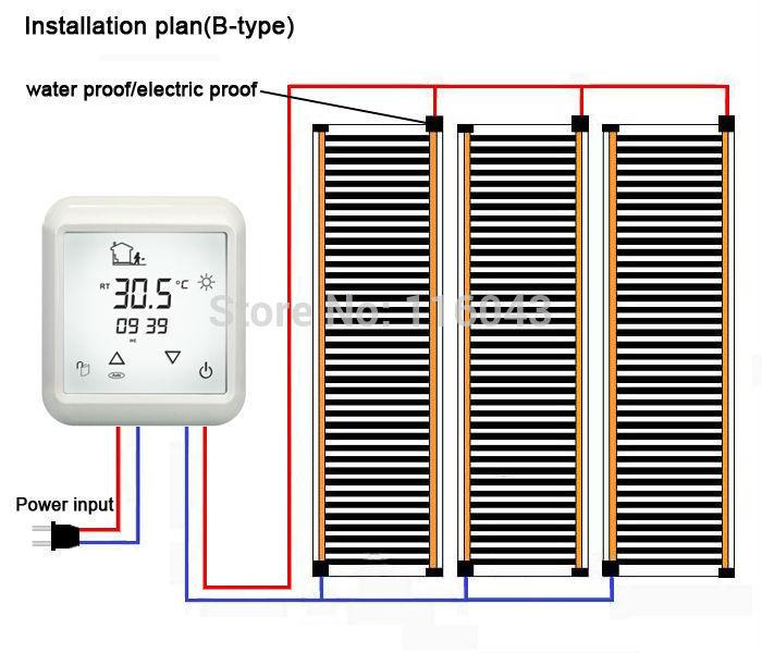 Heating film wiring plan B