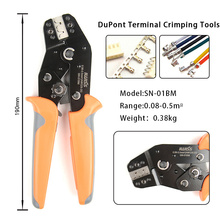 SN-01BM Ratchet Wire Cable Crimping Pliers Tool 0.08-0.5mm² for Dupont PH2.0 XH2.54 KF2510 JST Molex D-SUB Terminal sn 01bm crimp tool for jst zh1 5 2 0ph 2 5xh eh sm