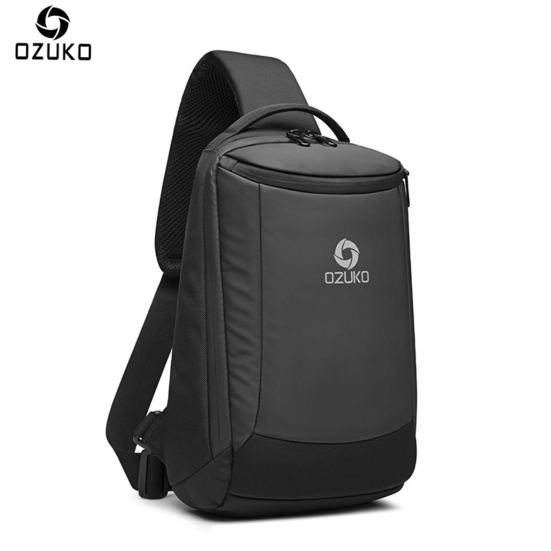 2018 Ozuko Neue Mode Männer Oxford Männer Brust Taschen Business Casual Männer Umhängetasche Usb Lade Crossbody Einzelner Schulter Tasche