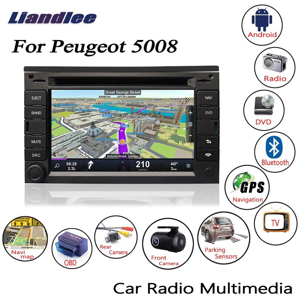 цена Liandlee For Peugeot 5008 2012~2013 Android Car Radio CD DVD Player GPS Navi Navigation Maps Camera OBD TV HD Screen BT Media