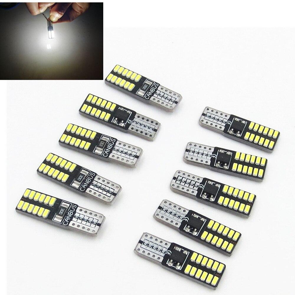 CYAN SOIL BAY 10pcs T10 LED 194 W5W 24 LED CANBUS 3014SMD ERROR FREE Car Side Innrech Market.com