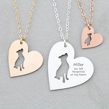 personalized Copper Pit Bull Dog Heart Charm Necklace Women Jewelry Mom Gift Drop Shipping Accepted YP6045