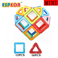 Espeon 28 pcs tamanho mini coração enlighten educacional magnético blocos de construção de tijolos de construção de brinquedos para crianças