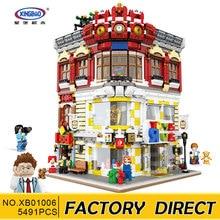 Xingbao 01006 5491Pcs Ekte Creative MOC City Series Leketøy og bokhandel Set barn Building Block Murstein Toy Model Gift