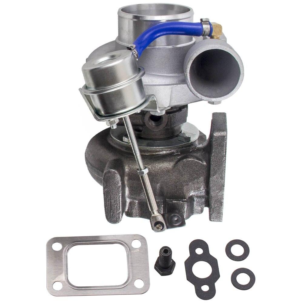 GT2871 T25 4 ボルト日産 SR/CA S13/S14 240SX 5 ボルトフランジ TURBO 充電器 gt28 Com の A/R。 60 タービンの a/R。 64 T25 T28 油水