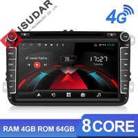 Autoradio Android Isudar H53 2 Din 4G multimédia pour VW/Volkswagen/POLO/Golf/Skoda/Seat/Leon/PASSAT B6 Auto GPS caméra USB DVR