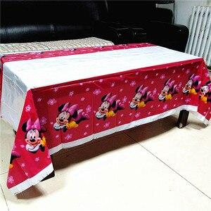 Image 5 - Mickey mouse obrus dla dzieci materiały urodzinowe minnie mouse obrus baby shower Mickey Minnie jednorazowe obrusy