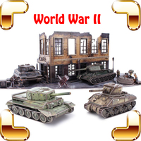 New Arrival Gift World War II 3D Puzzle Model Tank Collection DIY Puzzle Educational Toys Games For Kids Family Adult Puzzles