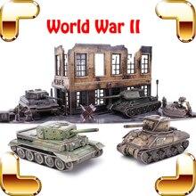 Новое поступление подарок Второй мировой войны 3D Puzzle модель танка DIY головоломки Обучающие Игрушечные лошадки игры для детей Семья взрослых Паззлы