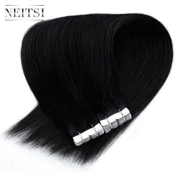 Neitsi Mini Tape In Non-Remy Human Hair Adhesive Extension 12 2