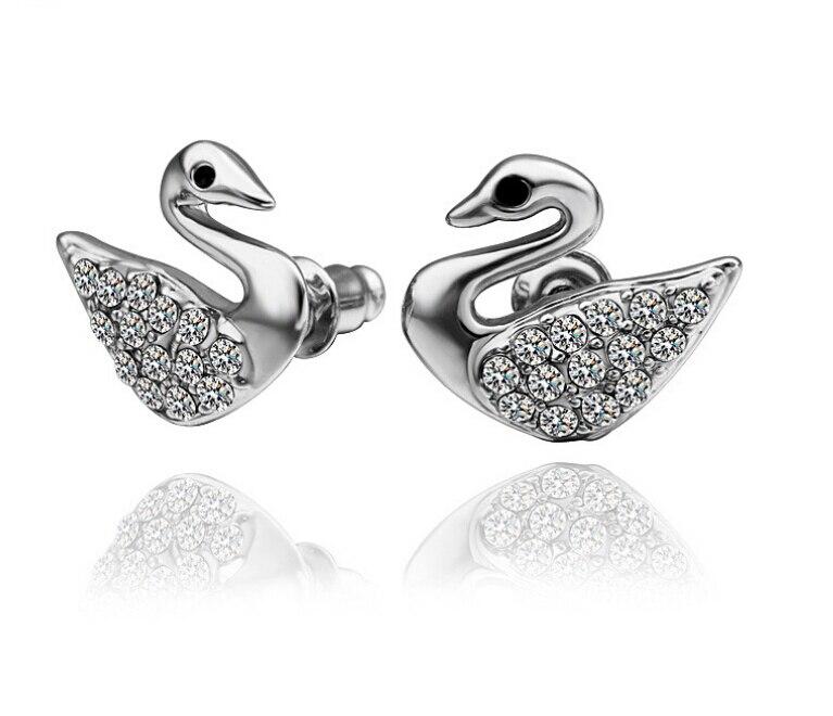 Luxurious Swan Fashion Sparking Cystal Rhinestone Mandarin