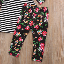 Sister Matching Toddler Kids Baby Girls Cotton Dresses Outfits Clothes T-Shirt Tops+Floral Pants 2Pcs Set